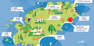 Mapa - Ilha de Ibiza